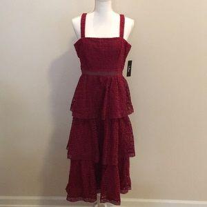 LuLu Three Tier Midi Dress. Women's Size L